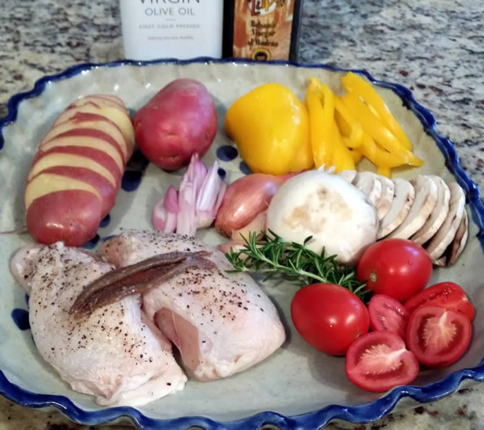 Balsamic Chicken with Vegetables & Potatoes