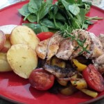 Balsamic Chicken with Vegetables and Potatoes
