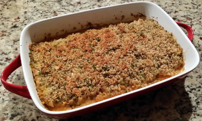 Baked Fish with Parmesan Topping