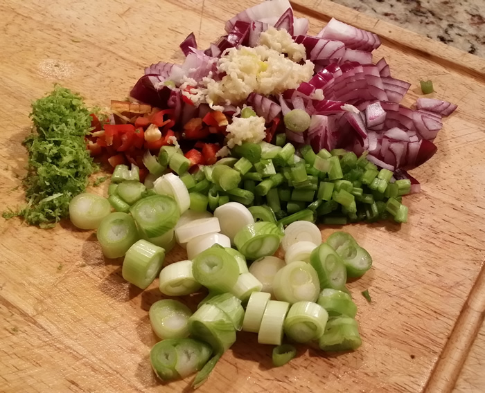 Spicy Edamame Bean and Potato Salad