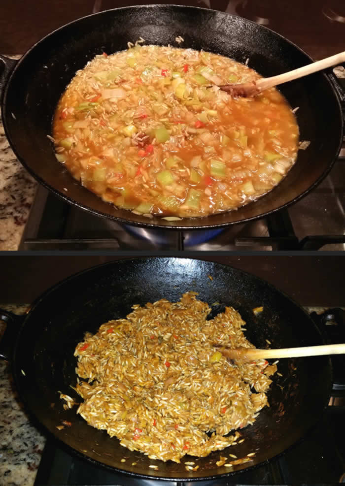 Thai Leek and Kale Risotto