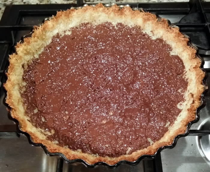 Coconut Shell Custard Pie