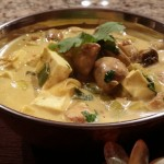 Leek Mushroom and Paneer Curry