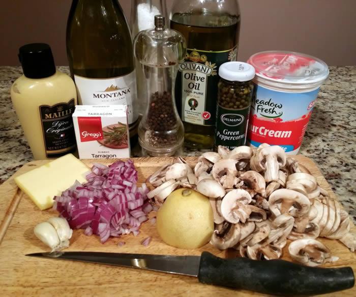 Mushroom and Green Peppercorn Sauce