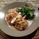 Chicken Breast in Vermouth, Sage and Mushroom Sauce