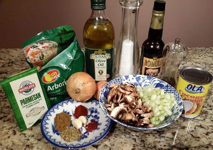 Mushroom and Celery Adobo Risotto