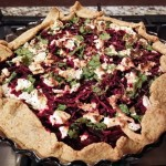 Beetroot & Feta Galette with Wholemeal Carrot Pastry