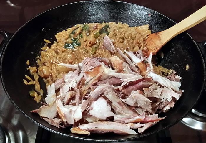 Smoked Fish & Jerusalem Artichoke (Orzo) Risotto