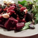 Warm Beetroot, Borlotti Bean and Chorizo Salad