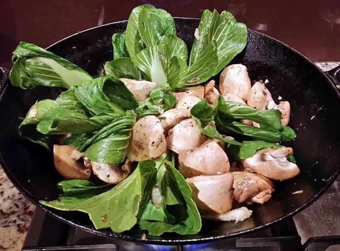 Pak Choy and Mushroom Stir Fry