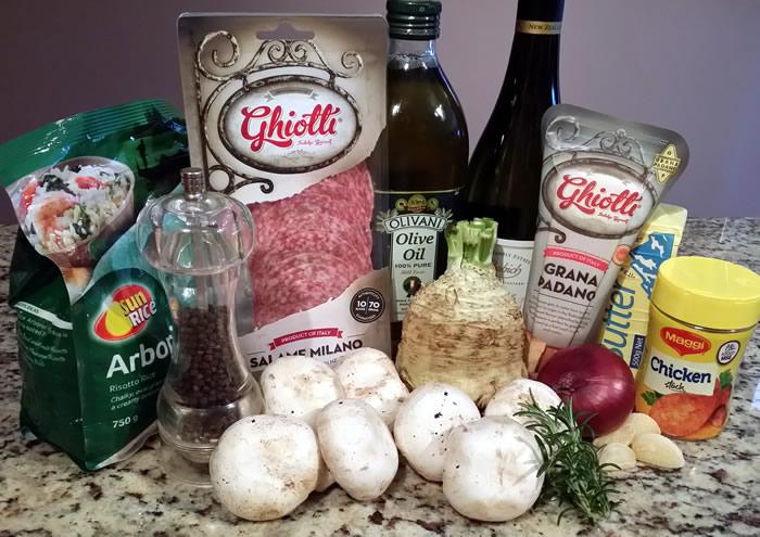 Celeriac and Mushroom Risotto