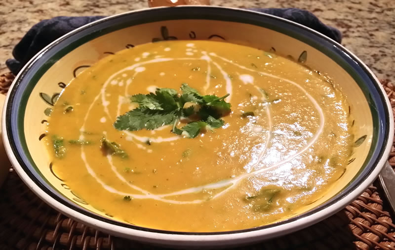 Spicy Carrot and Coriander Soup
