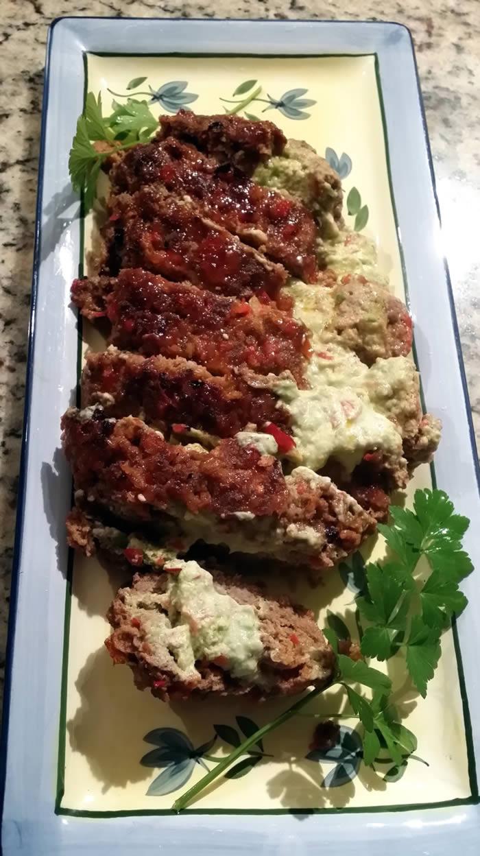 Avocado Stuffed Meatloaf