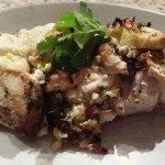 Coriander Baked Chicken with Artichoke and Mozzarella