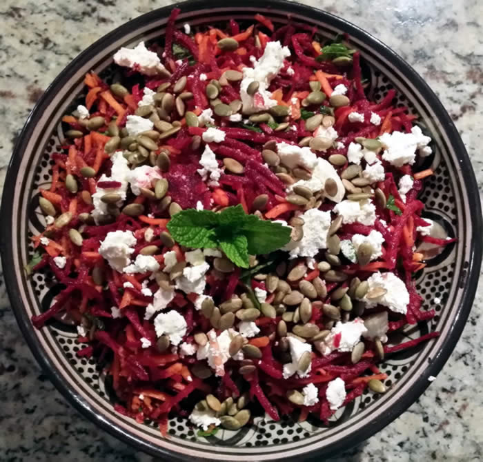 Moroccan Raw Beetroot and Carrot Salad