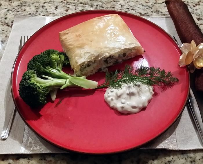 Salmon Filo Pie