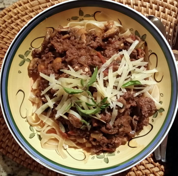 Beef and Mushroom Pasta Sauce