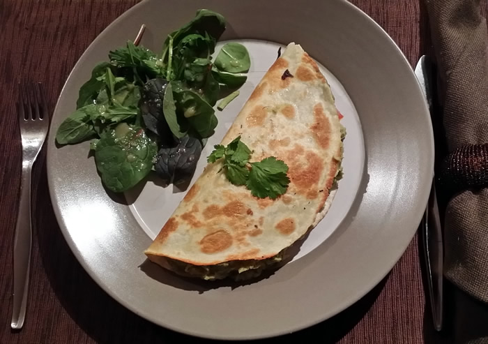 Green Cauliflower Quesadillas