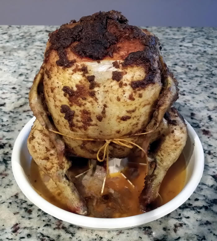 Microwaved Whole Chicken