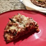 Cauliflower Pizza Base with Homemade Pizza Sauce