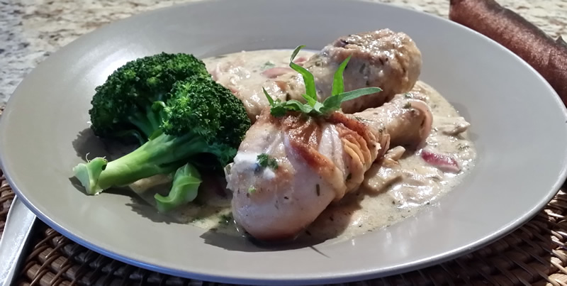 Chicken Drums in Tarragon Mustard Sauce