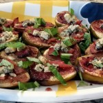 Roasted Figs with Bacon and Blue Cheese