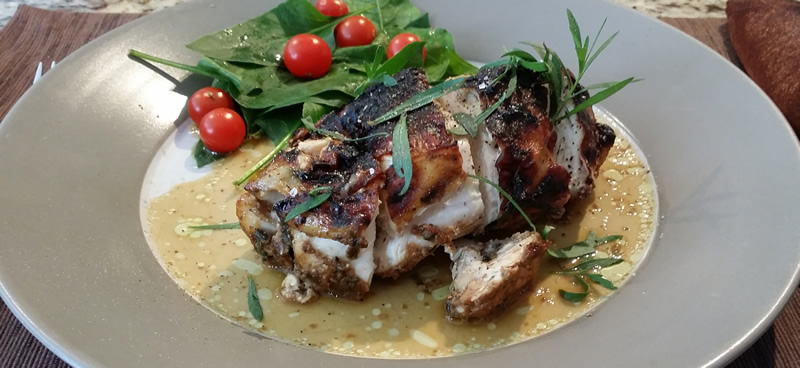 Stuffed Balsamic Tarragon Chicken