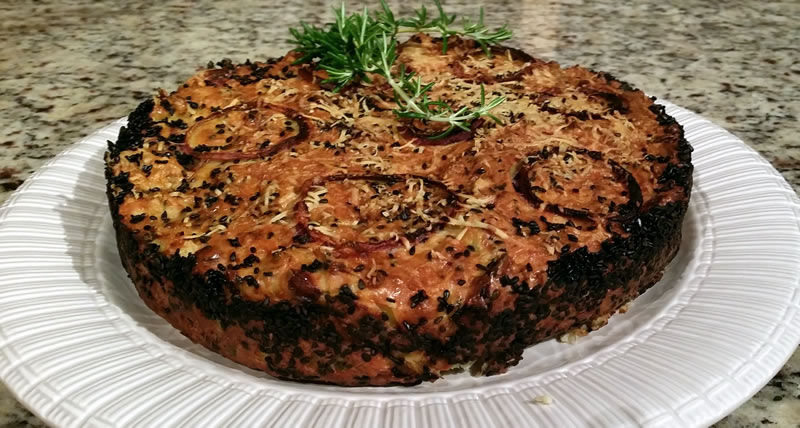 Cheesy Cauliflower Cake