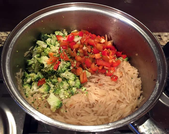 Cheesy Vege Rice
